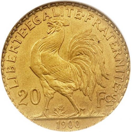 20 Francs Or Marianne Coq (ref202058)
