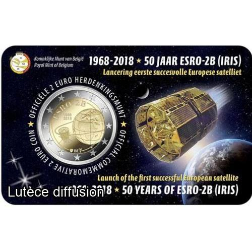 Belgique 2018 - 2 euros commemorative - 50ans satellite (ref21828)