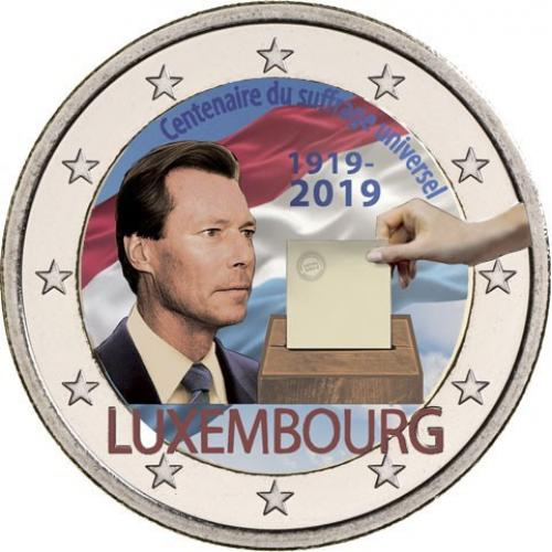 2 euros Luxembourg 2019 couleur (ref23855)
