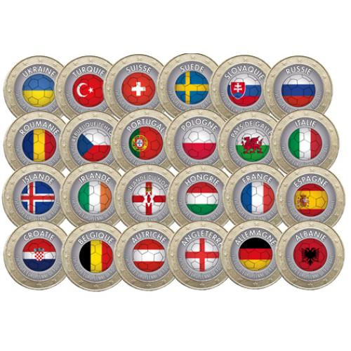 Collection complète 1 euro Football (ref329186)
