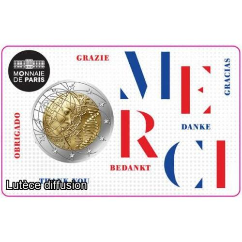 France 2020 - Coincard Merci (Ref25275)