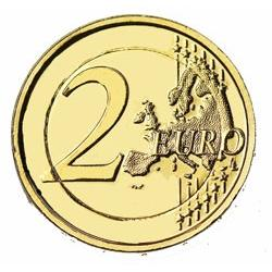 2€  Luxembourg 2019 - dorée or fin 24 carats (ref 23905)