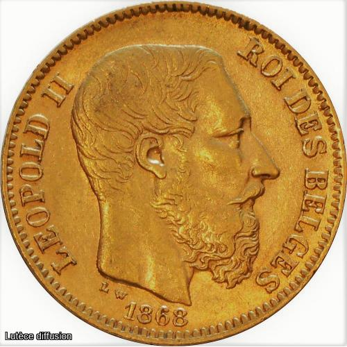 20 Francs Leopold II OR (ref42085)