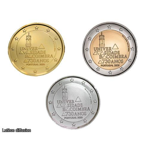 Lot Portugal 2020 Coimbra - 2 euro commémoratives (Ref46263)