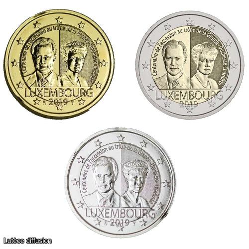 LOT Luxembourg 2019 Duchesse Charlotte  – 2€uro commémorative (Ref46120)