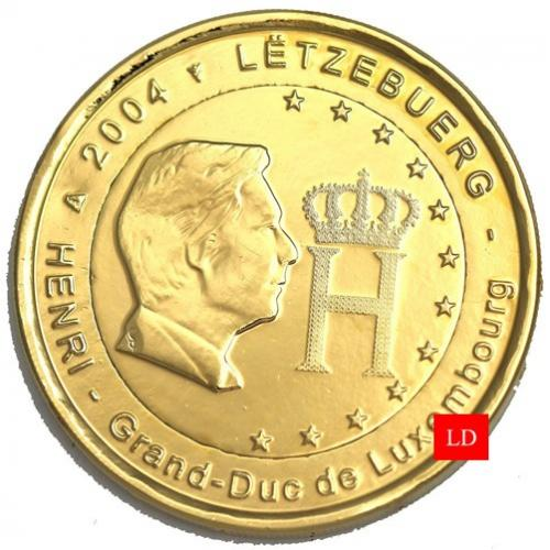 2€ Luxembourg 2004 - dorée or fin 24 carats (ref319628)