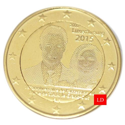 2€ Luxembourg 2015 - dorée or fin 24 carats (ref327678)