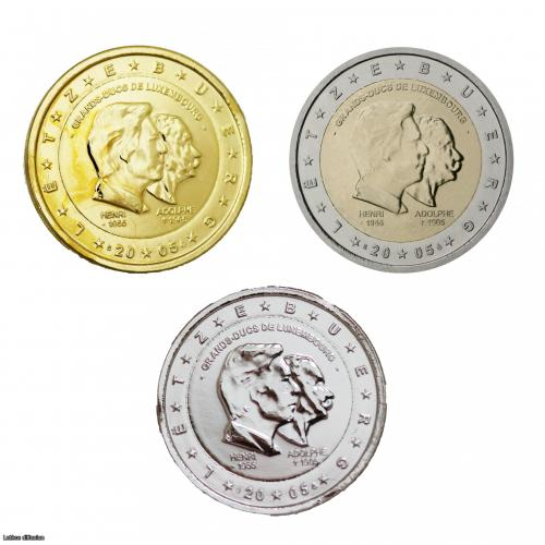 Lot Luxembourg 2005 - Henri & Adolphe – 2 euros commémorative (Ref28250)