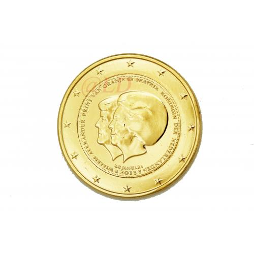 2€ Pays Bas 2013 - dorée or fin 24 carats (ref323119)