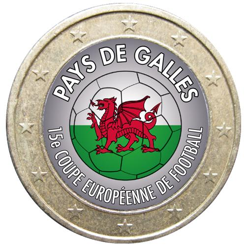 1 euro Football Pays de Galles (ref329012)