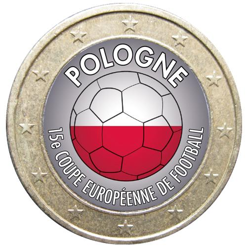1 euro Football Pologne (ref329043)