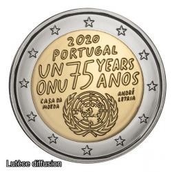 Portugal 2020 ONU - 2euro commémorative (ref25444)