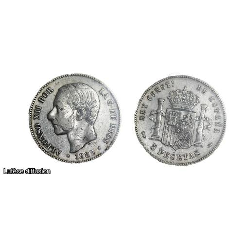 Espagne Alfonso XII 1878 Argent (46520)