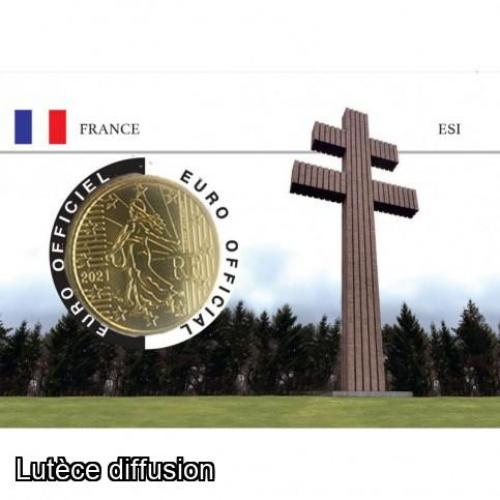 Coincard France 2021 - Charles de Gaulle - 50centimes (ref28555)