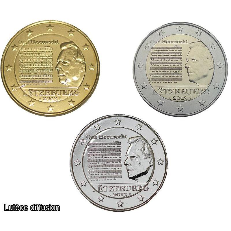 LOT Luxembourg 2013 – 2€uro commémorative (Ref46018)